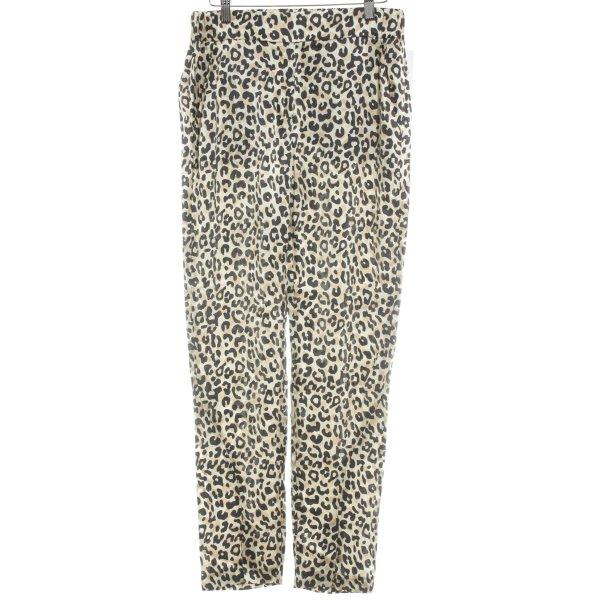 Lala Berlin Pantalón tipo suéter negro-color oro estampado de leopardo