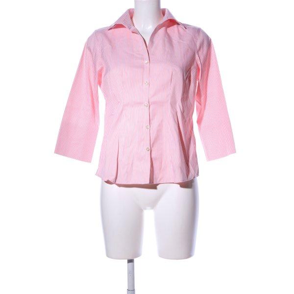 Lands' End Hemd-Bluse pink-weiß Streifenmuster Business-Look