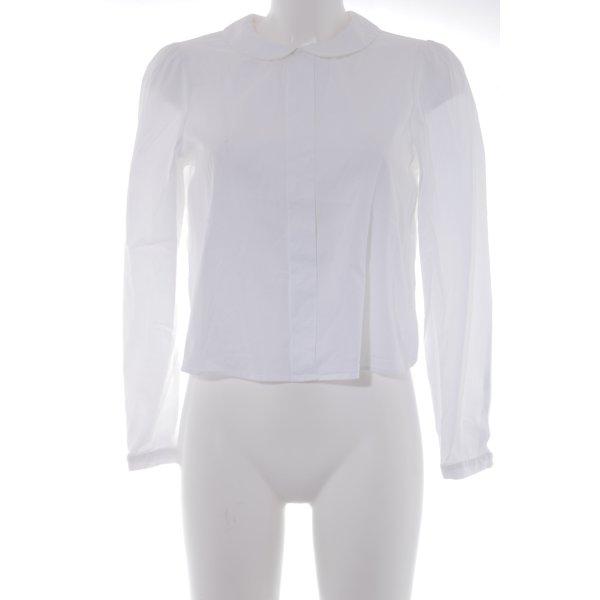 Langarm-Bluse weiß Casual-Look