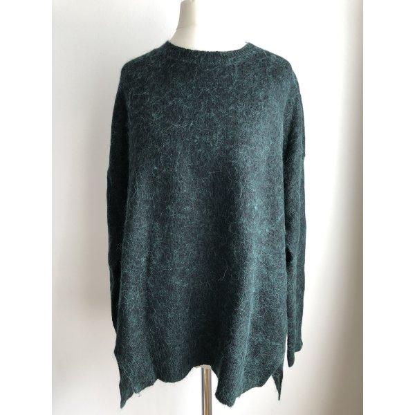 Langer Oversize Pullover | Grün