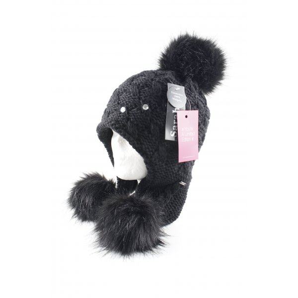 Lapland Hat black weave pattern casual look