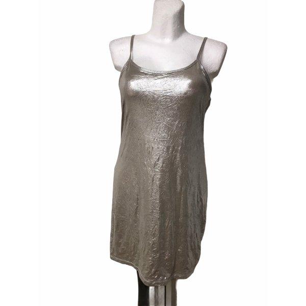Laquette Damen Kleid Silber Metallic Knit M