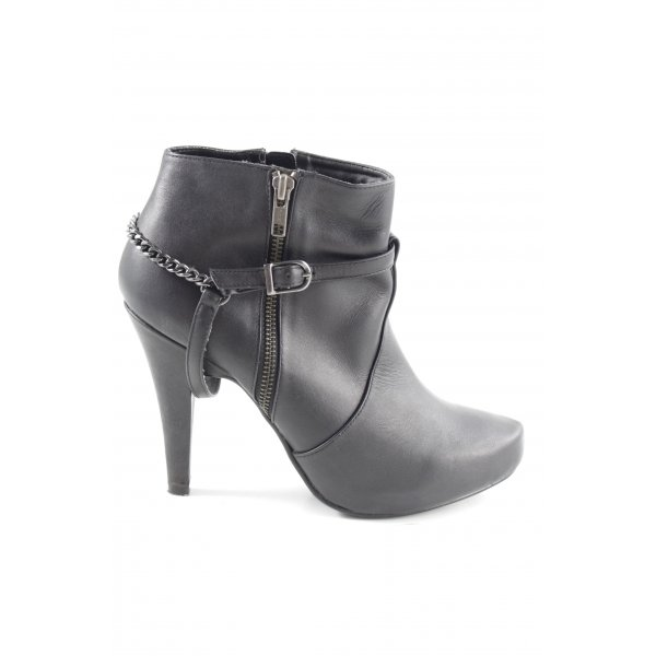 Laura Reißverschluss-Stiefeletten schwarz Elegant