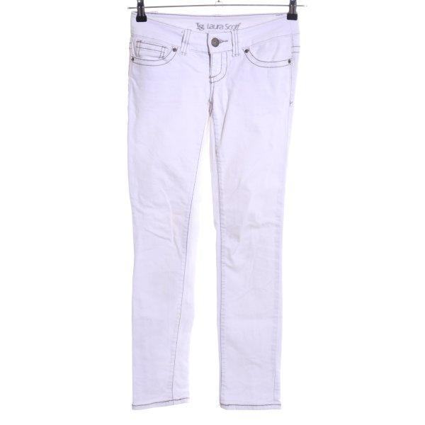 Laura Scott Slim Jeans weiß Casual-Look