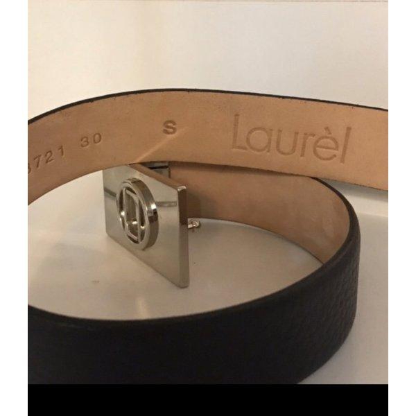 Laurèl Leather Belt blue leather