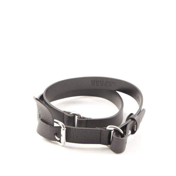 Lauren by Ralph Lauren Cintura di pelle nero stile casual