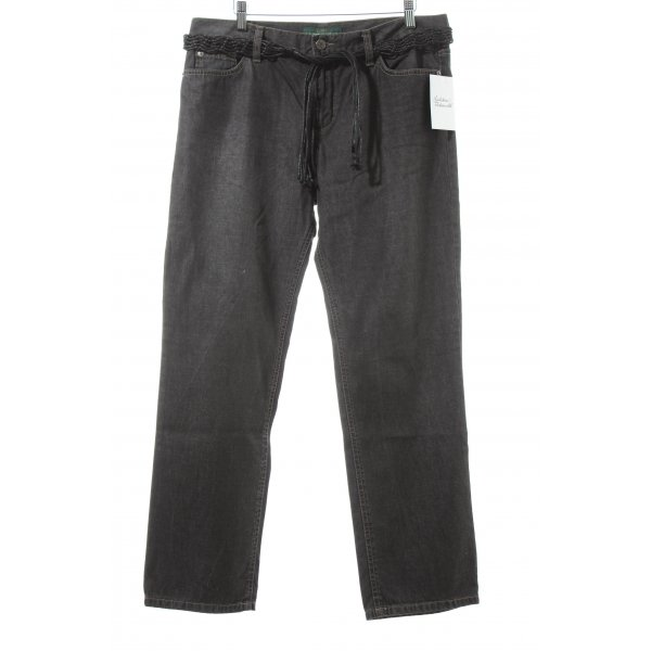 Lauren Jeans Co. Ralph Lauren Straight-Leg Jeans dunkelgrau Casual-Look