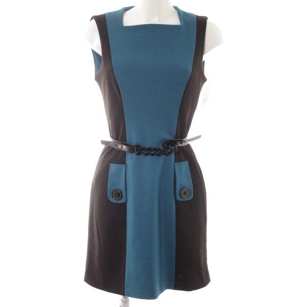 Le group woman Midikleid schwarz-kadettblau Colourblocking Elegant