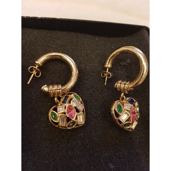 Le Monde  des Bijoux Silber vergoldet Ohrringe 925