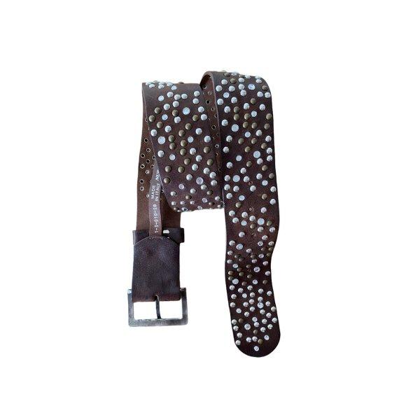 Nurage Leather Belt black brown