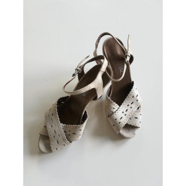 Leder High Heel Sandaletten Gr. 36