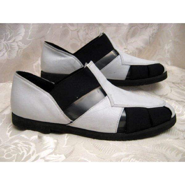 Leder Slipper 37 Weiß Sneaker