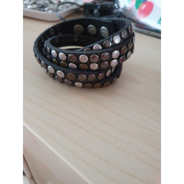 Liebeskind Leather Bracelet black