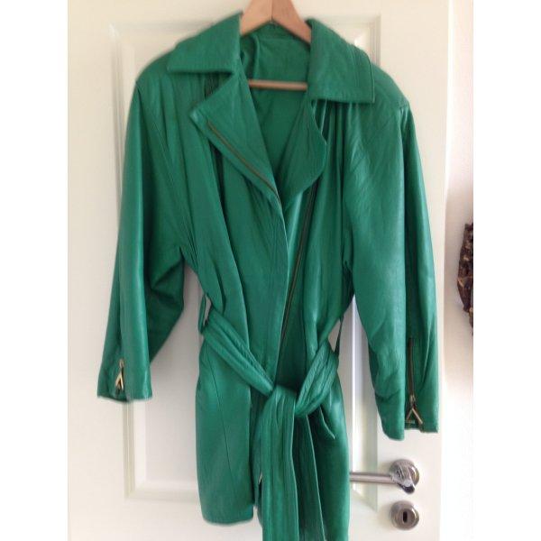 Lederjacke Grün Gr.2 80er Style