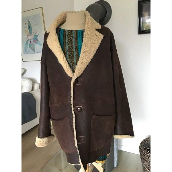 Lederjacke Vintage Riesig und warm Xl