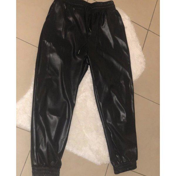 SheIn Pantalón de cuero negro