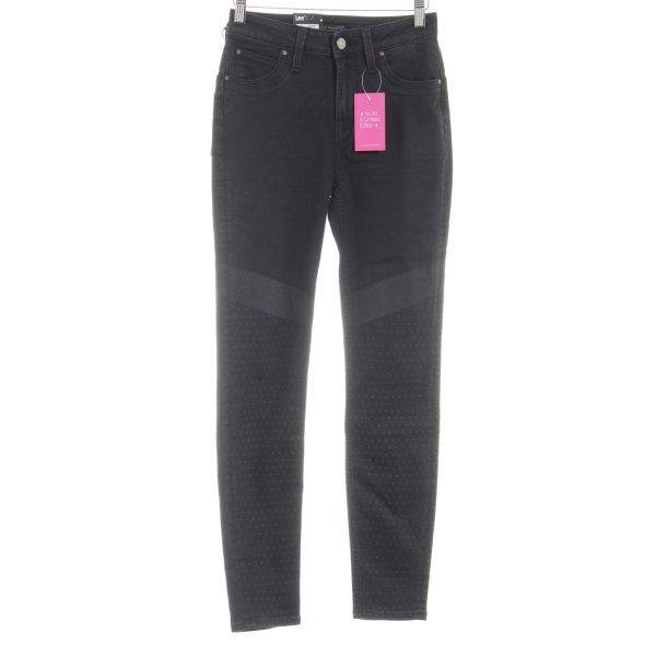 Lee Skinny Jeans schwarz Punktemuster Casual-Look
