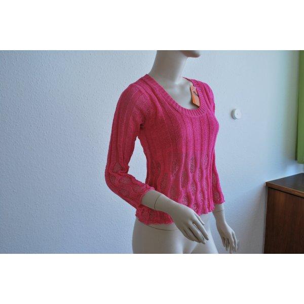 leichter Sommerpulli, rosa/pink, mit Seide, NEU, von FIONELLA, Gr. S