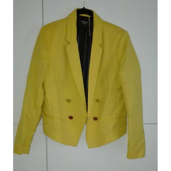 Leinen Blazer gelb gold Mango
