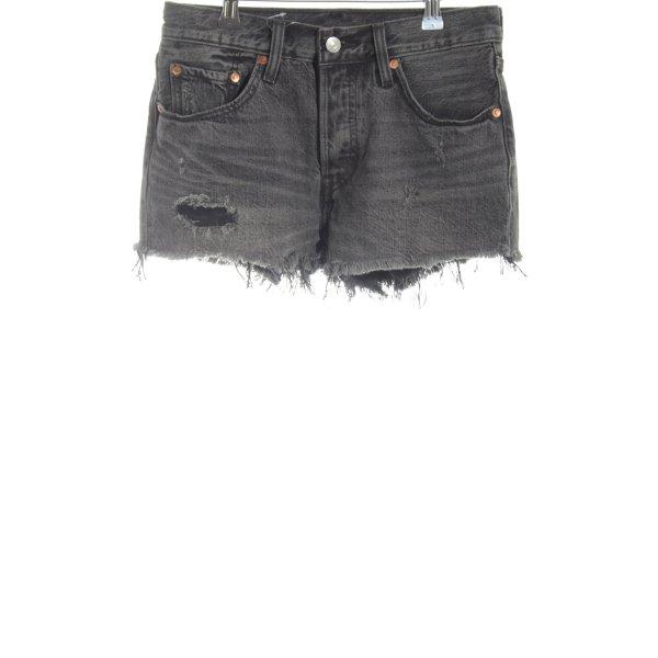 Levi's Jeansshorts hellgrau Street-Fashion-Look