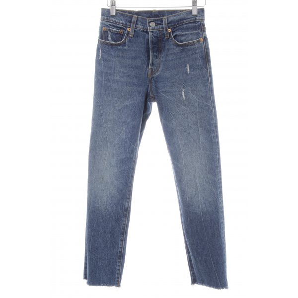 Levi's Straight-Leg Jeans dunkelblau Destroy-Optik