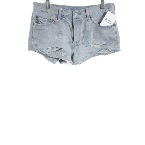 Levi's Straight-Leg Jeans blassblau Destroy-Optik