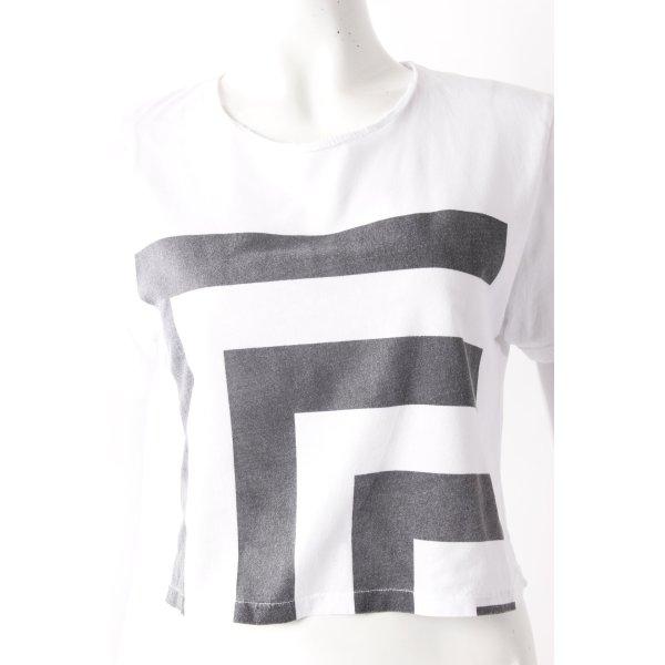 Libra Style Crop T-Shirt weiß