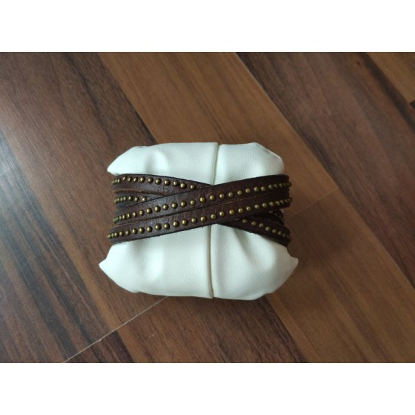 Liebeskind Leather Bracelet dark brown-black brown