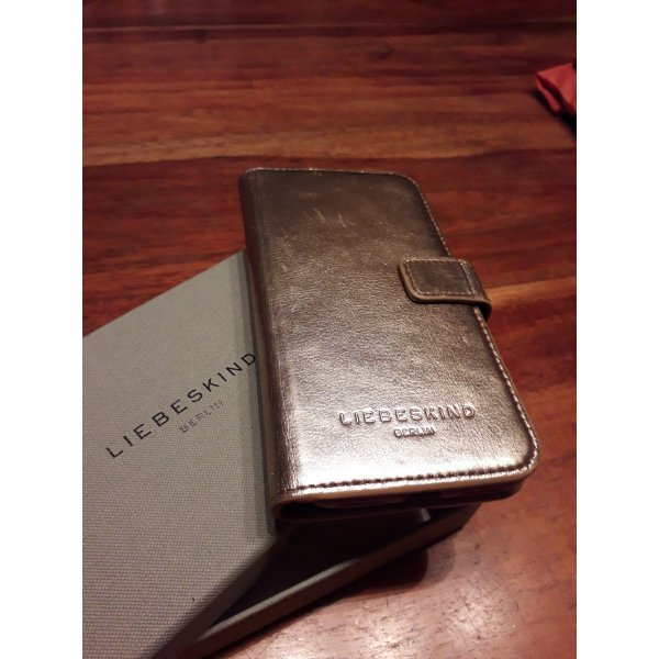 Liebeskind Berlin Mobile Phone Case gold-colored leather