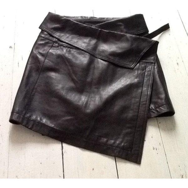 Liebeskind Wraparound Skirt black leather