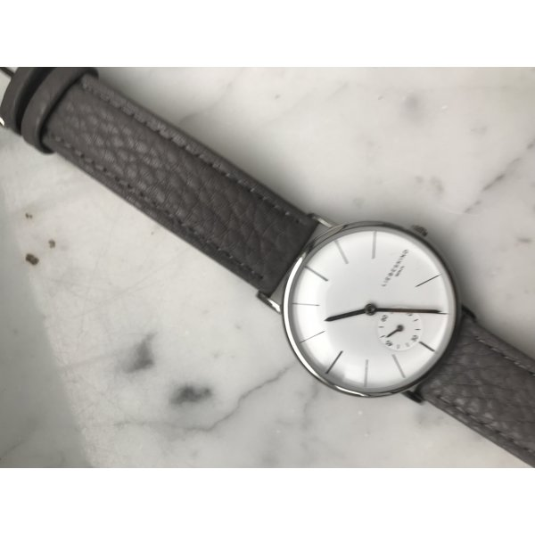 Liebeskind Watch With Leather Strap silver-colored-grey