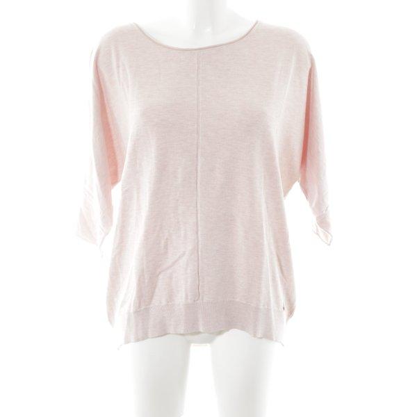 Lieblingsstück Rundhalspullover rosé-hellgelb meliert Casual-Look