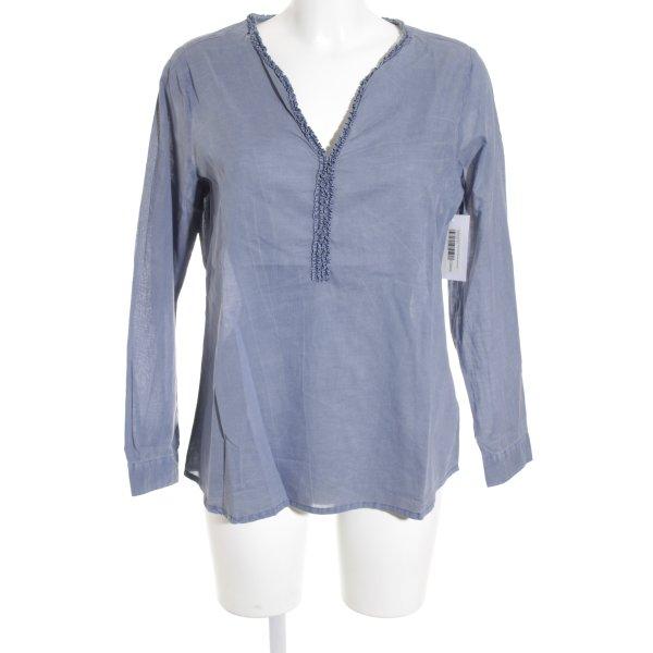 Lieblingsstück Schlupf-Bluse graublau schlichter Stil