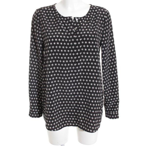 Lieblingsstück Schlupf-Bluse schwarz-weiß Sternenmuster Casual-Look
