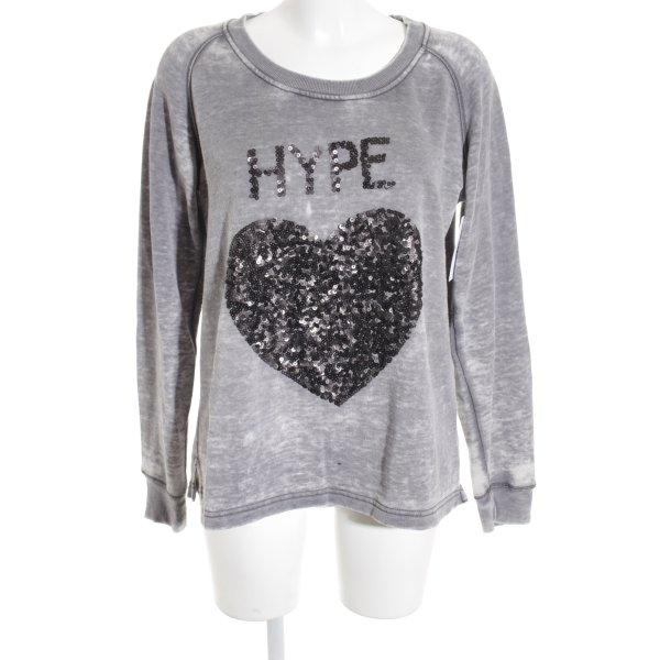 Lieblingsstück Sweatshirt grau-anthrazit grafisches Muster Casual-Look