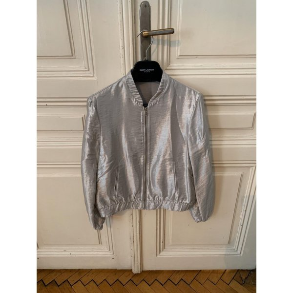 Light Bomber Jacket silber schimmernd