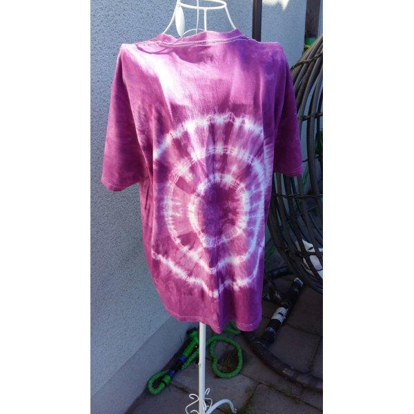 Batik shirt lila-wit Katoen
