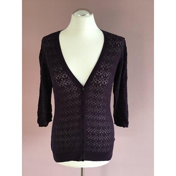 H&M Cardigan all'uncinetto viola-grigio-viola scuro