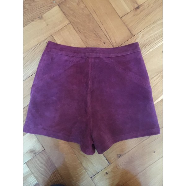 Lila Hotpants, echtes , Topshop, Größe 36