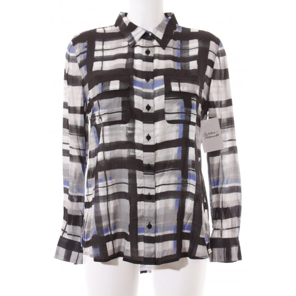 Lilienfels Langarm-Bluse grafisches Muster Casual-Look