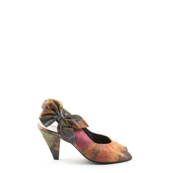 Linea Wally's High Heel Sandaletten abstraktes Muster Casual-Look