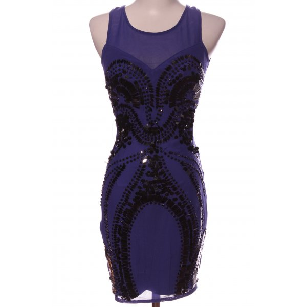 lipsy london Cocktailkleid blau-schwarz Elegant