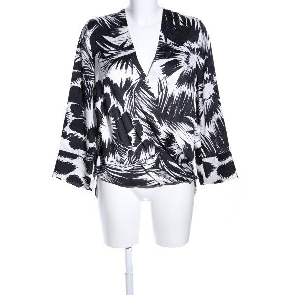 Liu jo Schlupf-Bluse schwarz-weiß abstraktes Muster Casual-Look