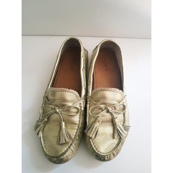 Coach Pantoffels goud
