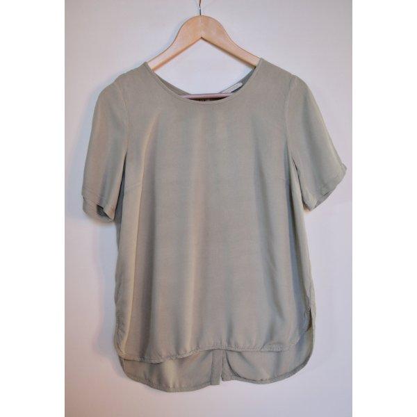 Lockere T-Shirt-Bluse in hellem Khaki