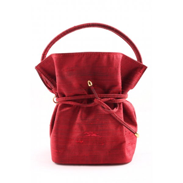 loncchamp Handtasche rot-goldfarben meliert Casual-Look