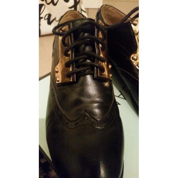 LONDON REBEL SCHUHE LUXUS SCHWARZ GR.38