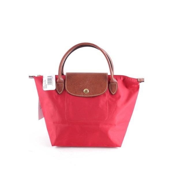 Longchamp Handtasche rot-braun Casual-Look