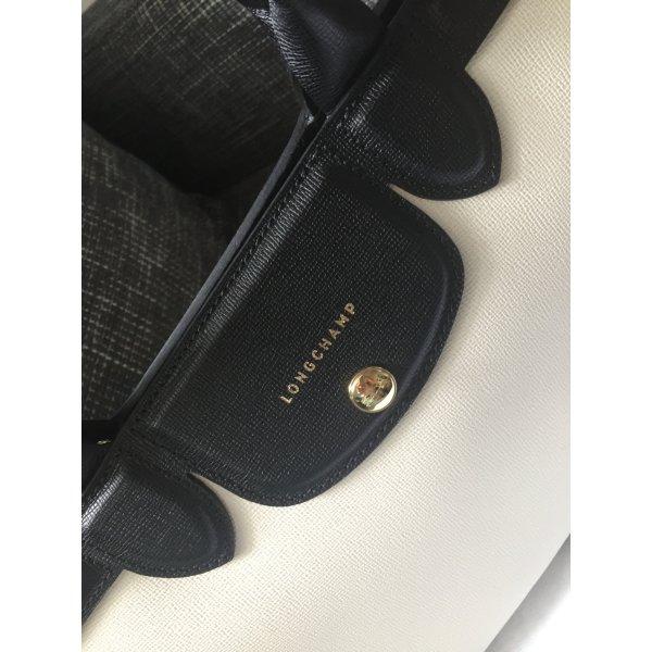 Longchamp Handtasche schwarz weiß (mini)