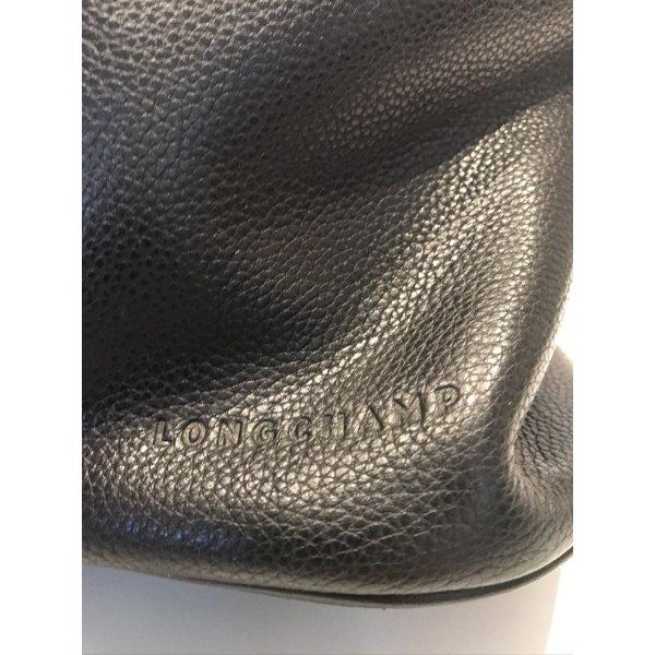 Longchamp Rucksack 3D  aus Leder in schwarz